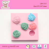 Hot Sale Food Grade 3D rose silicone chocolate mold cake decorating tools