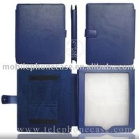 Leather case for pouch, PU for iPad pouch with pocket