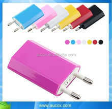 colorful mobile phone 5V 1a wholesale mini usb home charger for imax b6 charger