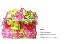 New large satin mix grosgrain product gift ribbon bow type