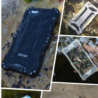 Extreme aluminum case for Phone 6 waterproof cover with tempered Gorilla glass