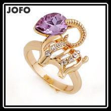 BEST SELL Elegant Purple Crystal Good Luck Sheep O Rings Size 7 Alibaba China Supplier XPJ0139