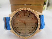 OEM wood fashion vogue watch,hand made wood watch with nylon strap