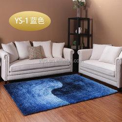 blue living room pure silk decoration shaggy carpet