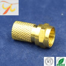 Factory price F male RG6/rg11 crimp type connector,high quality waterproof rf connector