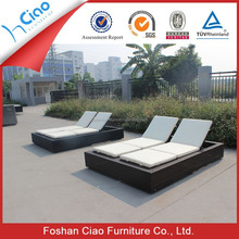 Vogue double sun lounger rattan outdoor daybed furniture