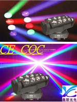 factory price and charming sharpy led moving beam head 8pcs*10W RGBW 4in1 LED beads spider light
