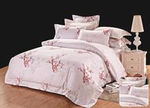 Boyazi Plum flower 100% cotton 40S sateen plain bed linen