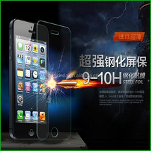 Newest ! factory price scratch resistant glass screen protector machine , 0.33mm thickness 9H hardness tempered glass screen