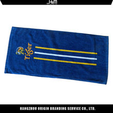 Best professional manufacture portable blue and white striped printed beach towel