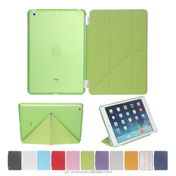 12 Colors Ultra Slim Different Folded Leather Case Smart Flip Cover for iPad mini 1/2/3 With Auto Wake Up Function