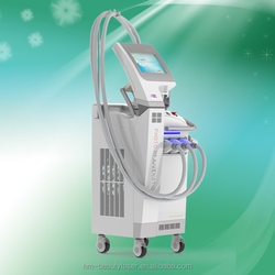 2015 Newest design ipl hair removal beauty equipment/e-light ipl rf+nd yag laser multifunction machine