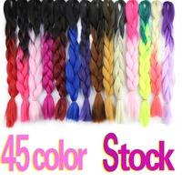 Factory wholesale Ombre Color kanekalon Jumbo Braiding Hair/Ombre Kanekalon Jumbo Braid/Kanekalon Braiding Ombre Color