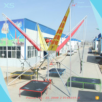 New Bungee Jumping Equipment Long Commercial Trampoline for Adults