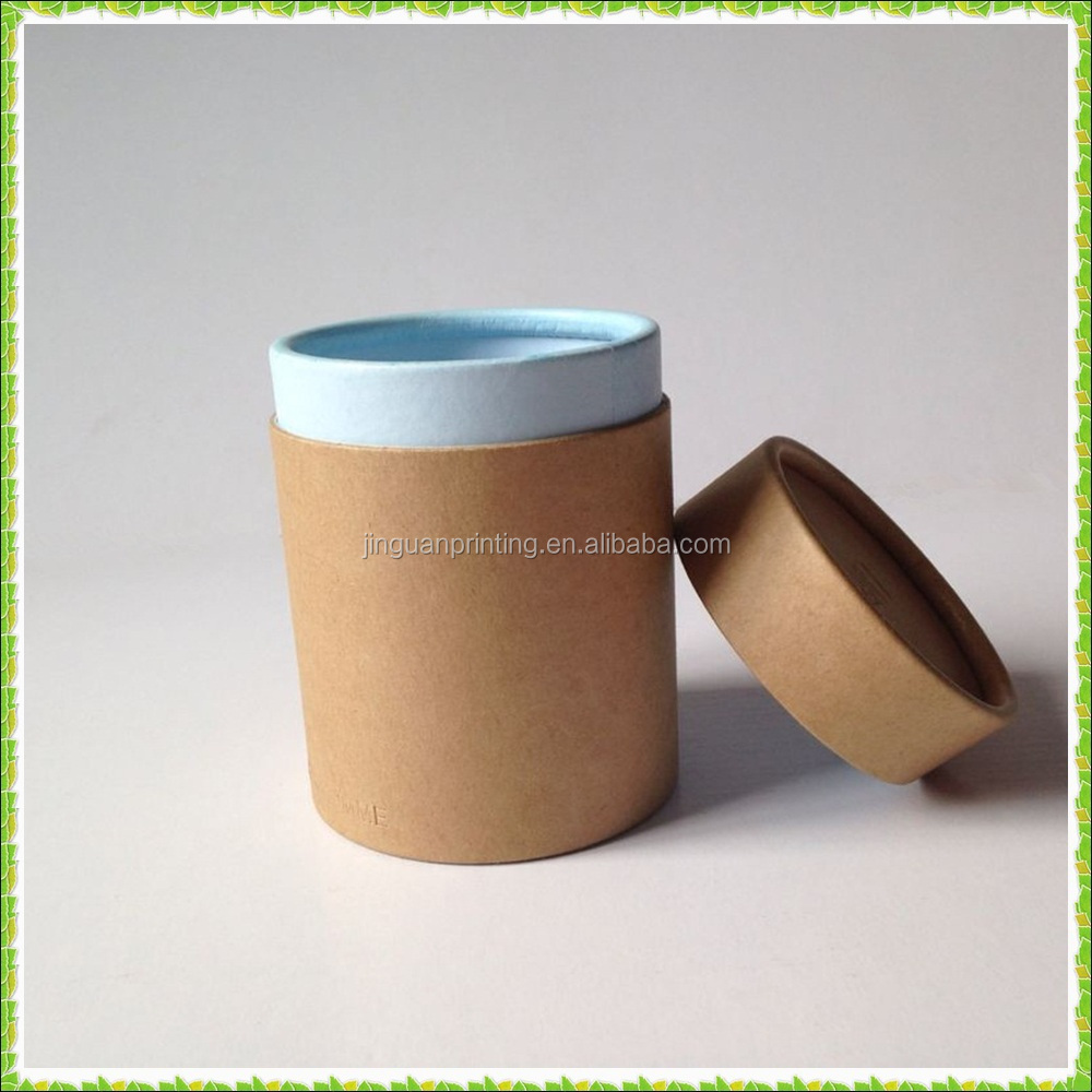 Customized craft cylinder boxes with embossed logo kraft for Kraft paper craft tubes