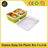 Hot sale silicone plastic lunch box with compartments