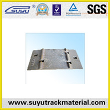 Railroad casting iron sole plates used to support the rails