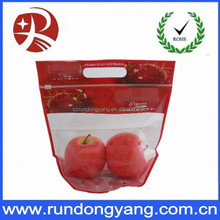 slider zip lock fruit bag with handle for cherry packaging bag