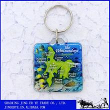Cheap customs giveaway Australia map design Australia tourist souvenir key chain ring