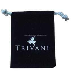 2016 Spring arrival printed velvet jewelry pouches