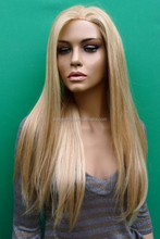 Elegant Wig 2014 fashionable blonde human hair full lace wig for sale