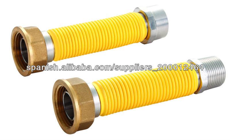 1 2 flexible de metal de acero inoxidable de gas tubo de for Manguera de jardin 1 2