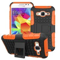 3 in 1 Snap-On Silicone and PC Hybrid Case Cover for Samsung Galaxy Core Prime with Kickstand