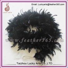 Fluffy Black Ostrich Feather Boa For Halloween