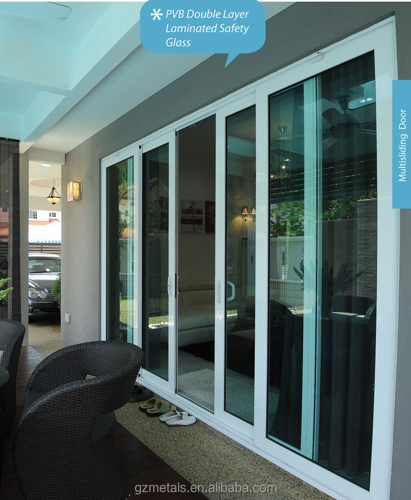 Customized cheap price aluminum sliding door balcony for Aluminum sliding glass doors price