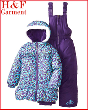 children heavy winter clothing with cheetah printed made of 100% polyester fleece