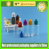 new 10ml PET e liquid juice flavor bottle with childproof cap