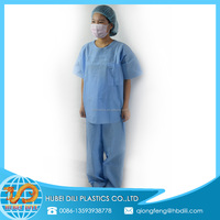 long sleeve scrub suits/latest design office scrub suit uniforms/chinese collar scrub suit designs