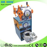 Automatic Food Tray Sealing Machine manual tray sealing machine, manual fast food sealer WY-802E-12
