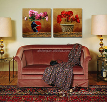Spurts drawings of flowers oil painting style of balsam flowers wall pictures