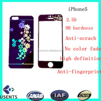 manufactory hot sale anti-scrach Screen Protective Film for iphone, color tempered glass screen protector for mobile