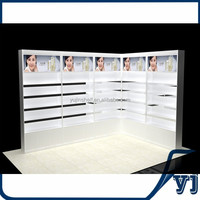 Wall dispaly cabinent,cosmetic store wooden display case