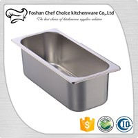 0.8mm 360*165*118mm Stainless Steel Ice Cream Container Bar and Buffet Catering Ice Cream Freezer Container