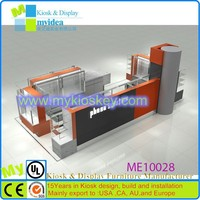Fashion Modeling prefab phone display showcase kiosk for electronic products