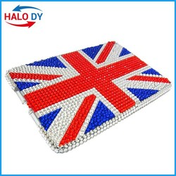 Tablet case, elegant bling crystal diamond case pc back cover for ipad wholesale
