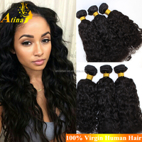 Aliexpress Best Selling European Wet And Wavy Hair Extension 100% Virgin Human Hair Water Wave Hair Weaves