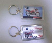 Promotional high quality giveaways photo frame acrylic keyring keychain / plastic key chain