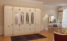 white color solid wood wardrobe