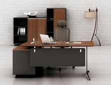 Metal Leg Office Desk with US File Drawers (FOH-RAS05)