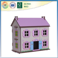 Wooden children play house is pretty cute toys as gift