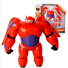 "Big Hero 6 Transform Assemble Toy Fat Balloon Man Doll Baymax 6.3"" Action Figure New in Box"