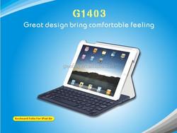 High Quality 9.7 inch Wireless Bluetooth Keyboard Case for iPad Air
