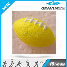 Yellow color American football foam stress ball