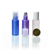 Hot sale 10ml mini clear perfume glass tube with customize roller ball