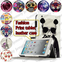 """For ipad 3 9.7"""" Tablets Printing Folding PU Leather Case Media Stand Folio Case Cover"""
