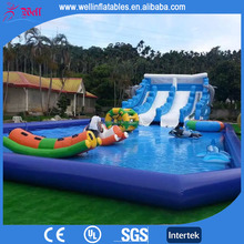 Cheap above ground inflatable pool for sale / inflatable pool rental